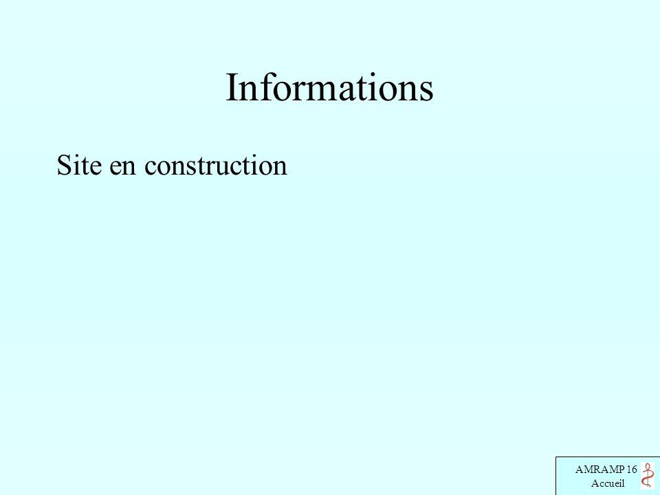 AMRAMP 16 Accueil Informations Site en construction