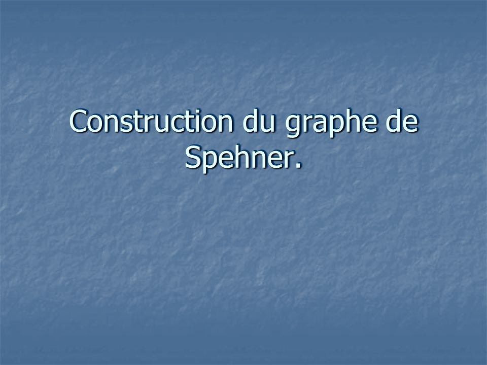 Construction du graphe de Spehner.