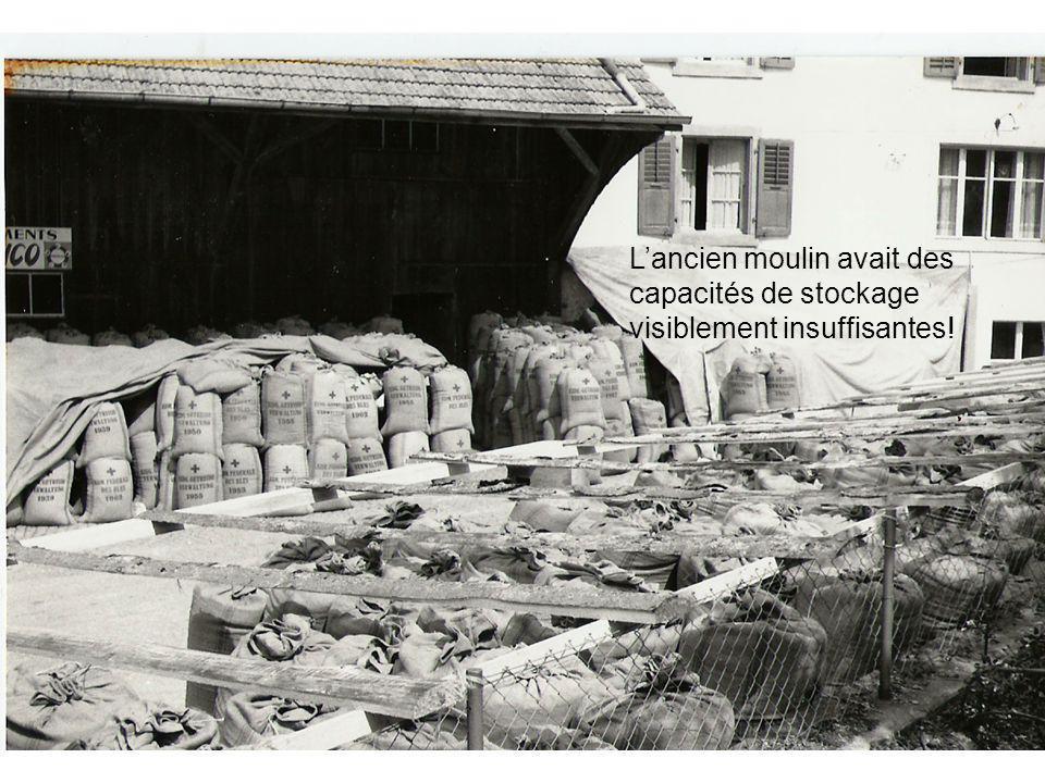 Lancien moulin avait des capacités de stockage visiblement insuffisantes!