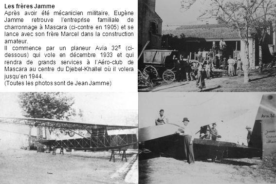 Les frères Jamme Après avoir été mécanicien militaire, Eugène Jamme retrouve lentreprise familiale de charronnage à Mascara (ci-contre en 1905) et se