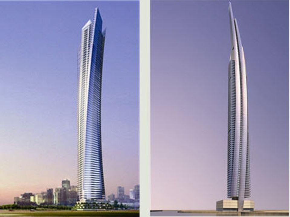 Ocean Heights à Dubaï Les tours Ocean Heights 1 et 2 ont été conçues par l'architecte Andrew Bromberg pour la marina de Dubaï. La première, en torsion