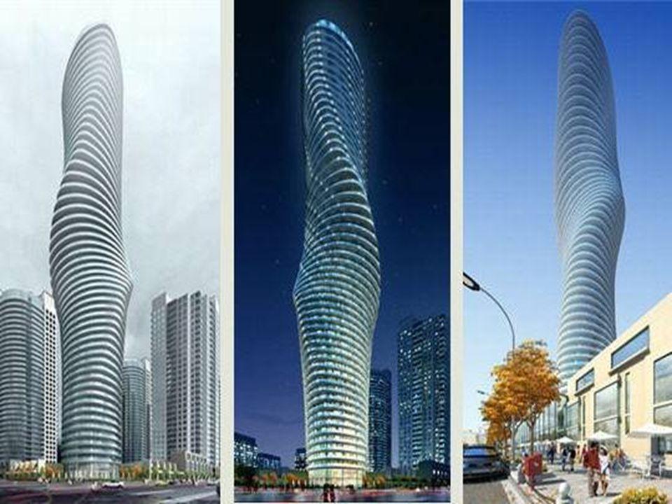 La tour « Marylin » Dessiné par le studio d'architectes MAD, basé à Pékin, ce gratte-ciel devrait être construit à Mississauga (Canada), dans le cadre