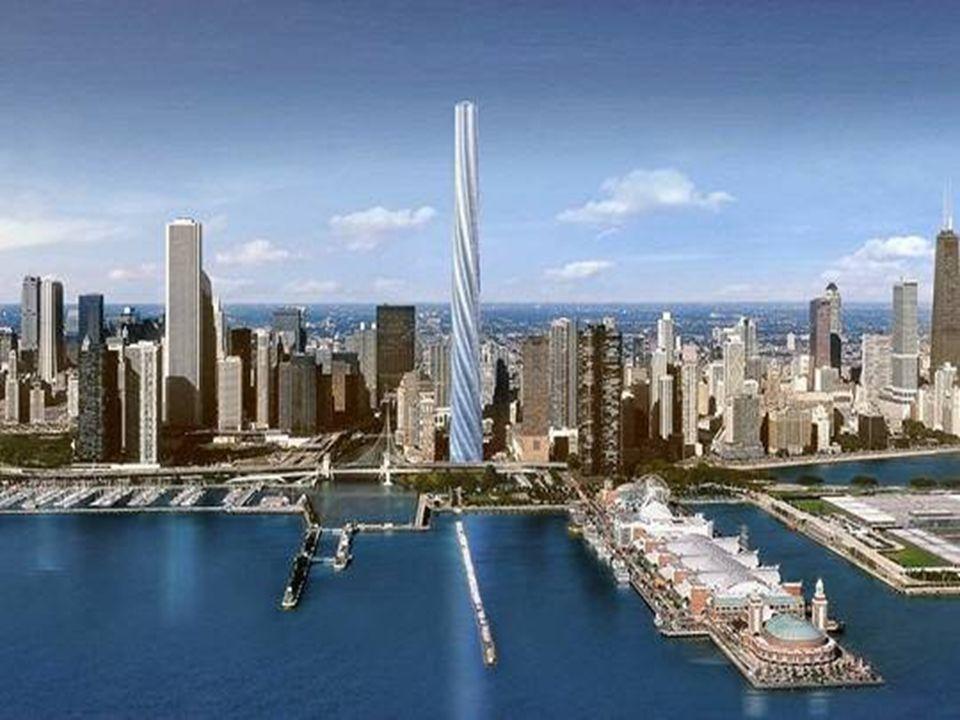 La tour torsadée de Chicago Imaginée par l'architecte espagnol Santiago Calatrava, la