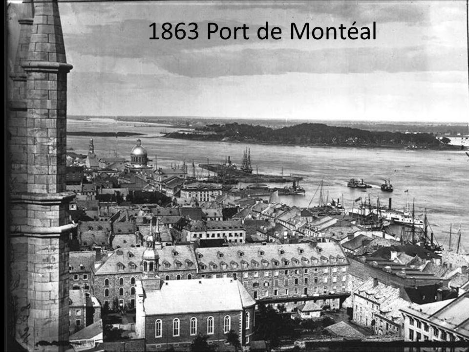 1976 Montréal centre ville, le Port et lautoroute Bonaventure