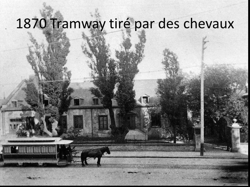 1870 Tramway tiré par des chevaux
