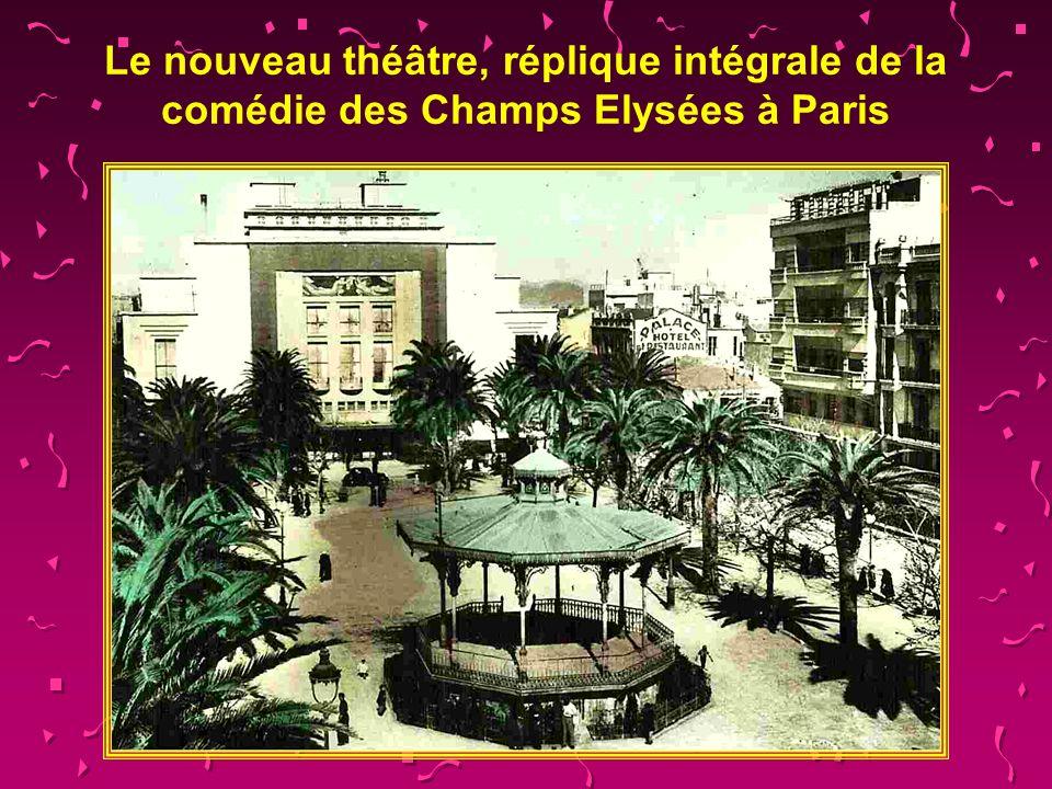 Place Clémenceau avec lavenue Prudon,le monument aux morts et le cinéma Vox.
