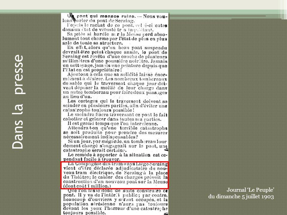 Journal Le Peuple du dimanche 5 juillet 1903 Dans la presse