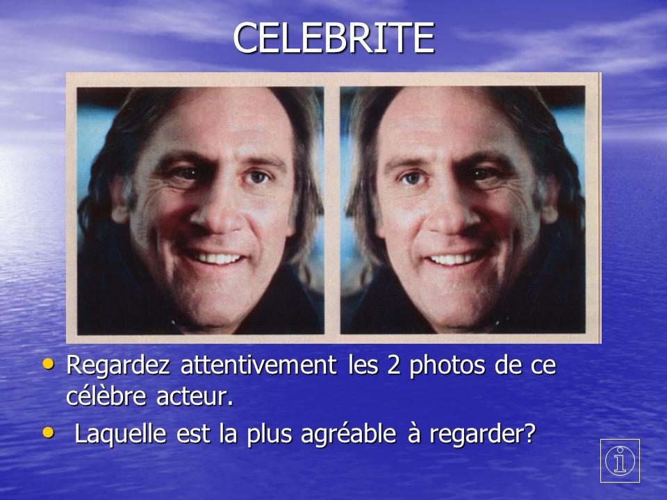 CELEBRITE Regardez attentivement les 2 photos de ce célèbre acteur.