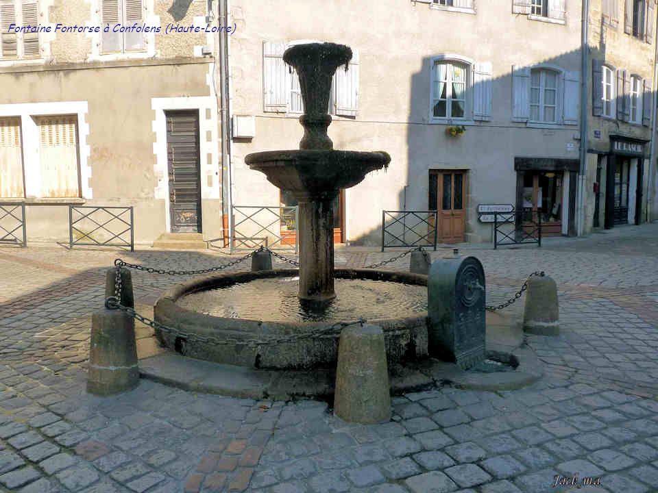 Fontaine Fontorse à Confolens (Haute-Loire)