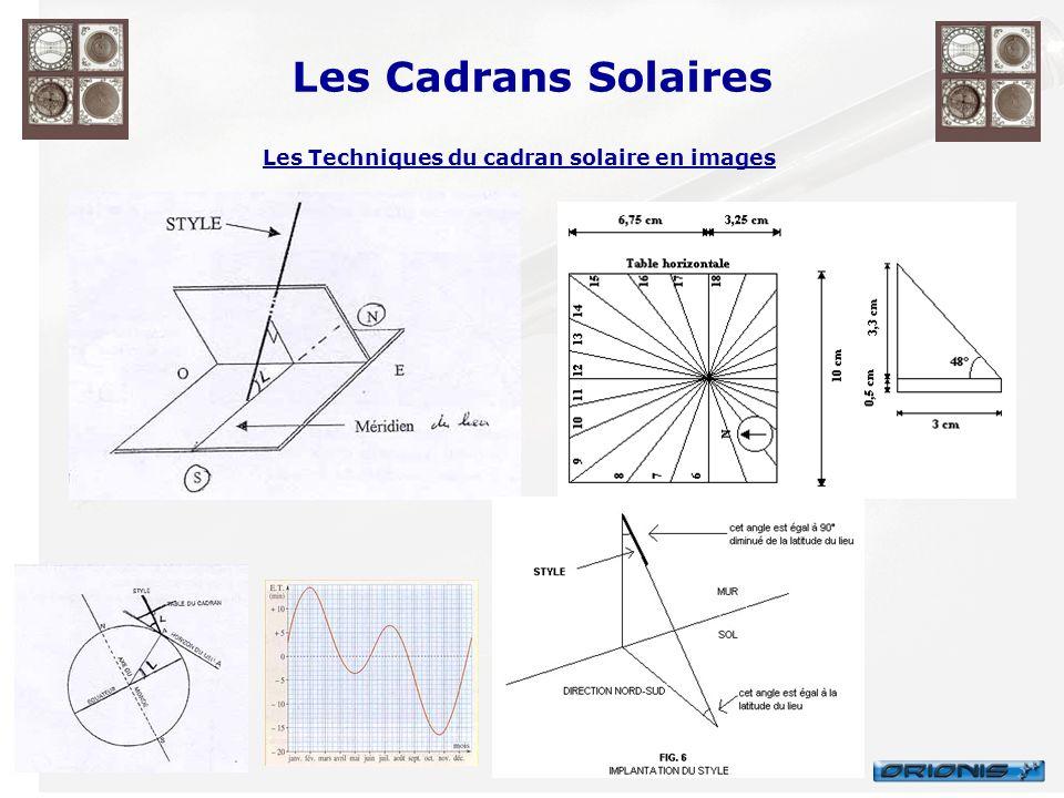 Les Cadrans Solaires Les Techniques du cadran solaire en images