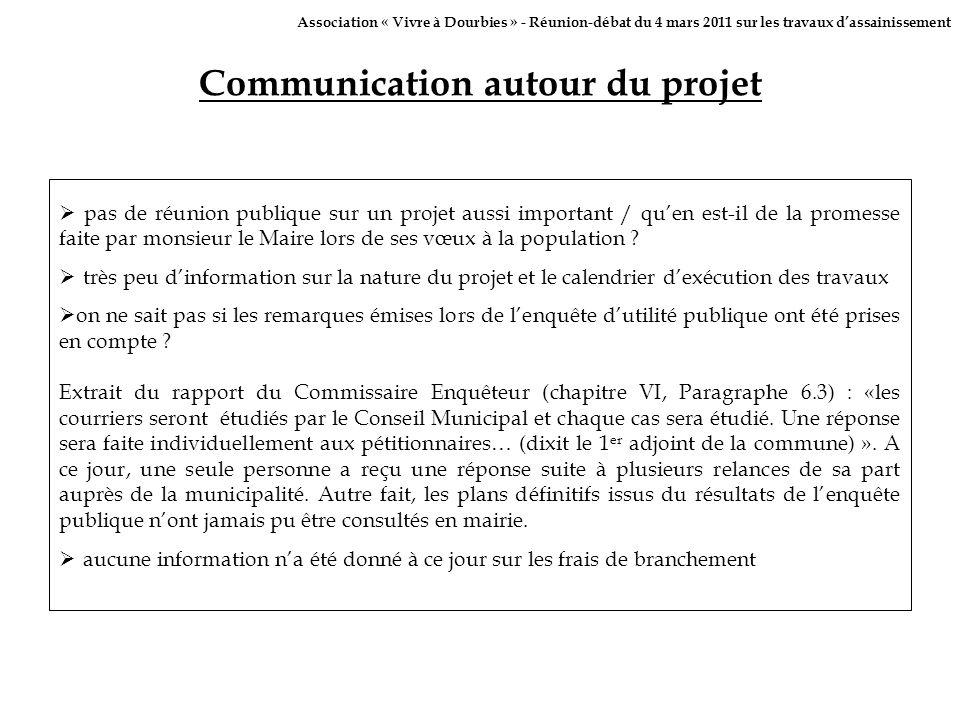 Communication autour du projet pas de réunion publique sur un projet aussi important / quen est-il de la promesse faite par monsieur le Maire lors de