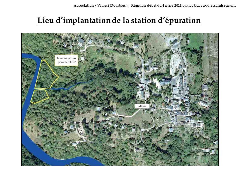 Lieu dimplantation de la station dépuration Association « Vivre à Dourbies » - Réunion-débat du 4 mars 2011 sur les travaux dassainissement