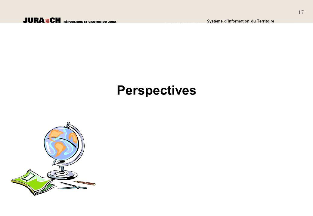 1717 SIT Présentation générale Système dInformation du Territoire 17 Perspectives