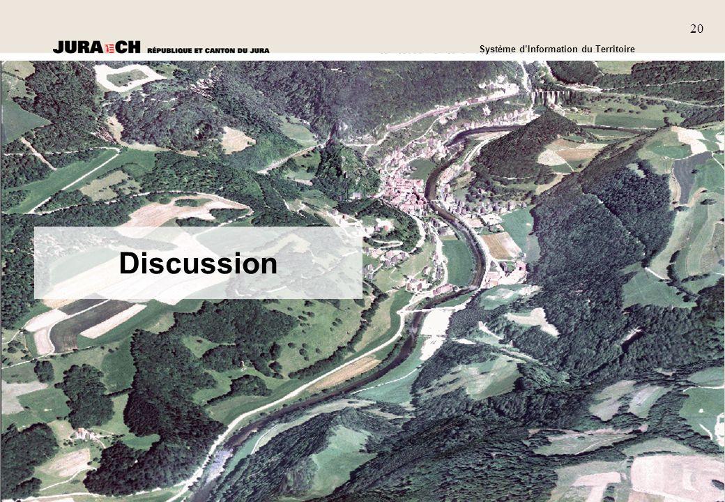 2020 SIT Présentation générale Système dInformation du Territoire 20 Discussion