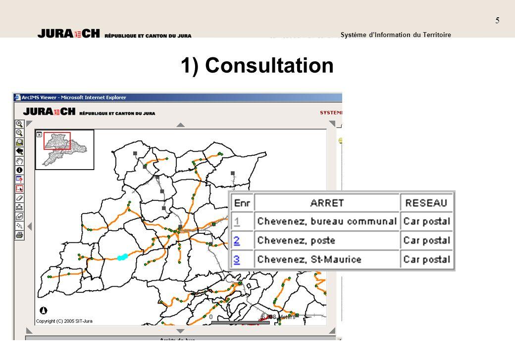 5 SIT Présentation générale Système dInformation du Territoire 5 1) Consultation
