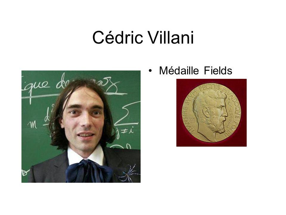 Cédric Villani Médaille Fields