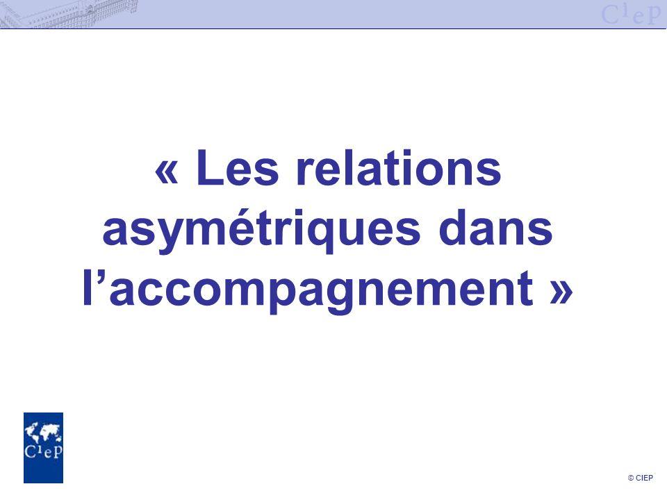 © CIEP « Les relations asymétriques dans laccompagnement »