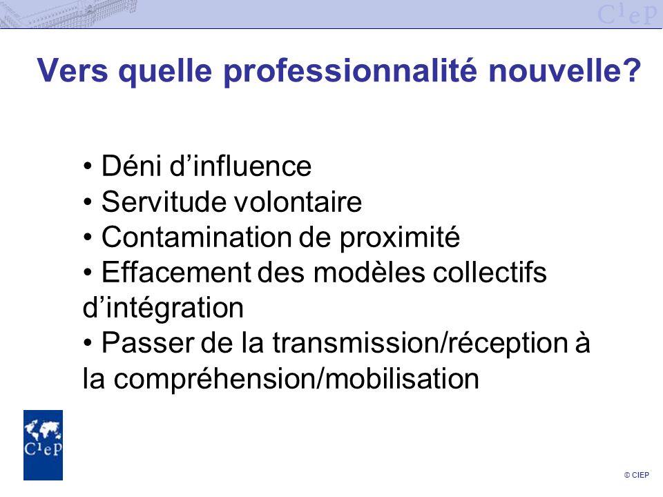 © CIEP Vers quelle professionnalité nouvelle.