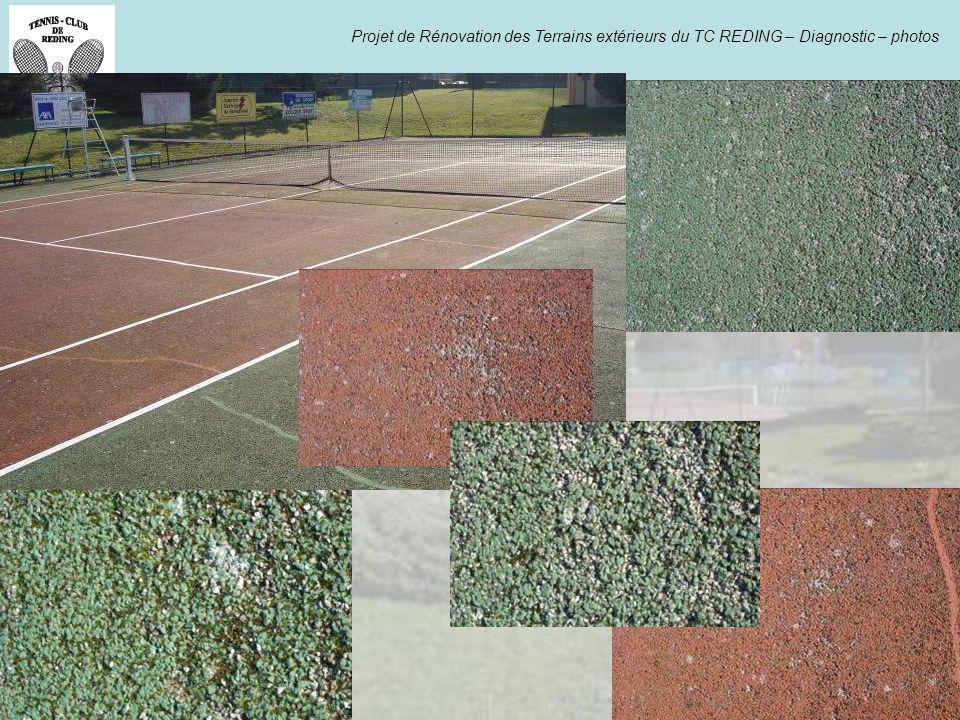 Projet de Rénovation des Terrains extérieurs du TC REDING – Diagnostic – photos