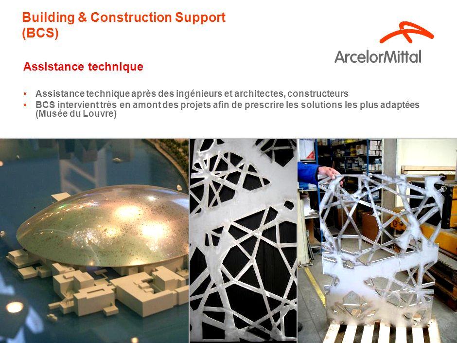 11 Building & Construction Support (BCS) Assistance technique Assistance technique après des ingénieurs et architectes, constructeurs BCS intervient très en amont des projets afin de prescrire les solutions les plus adaptées (Musée du Louvre)