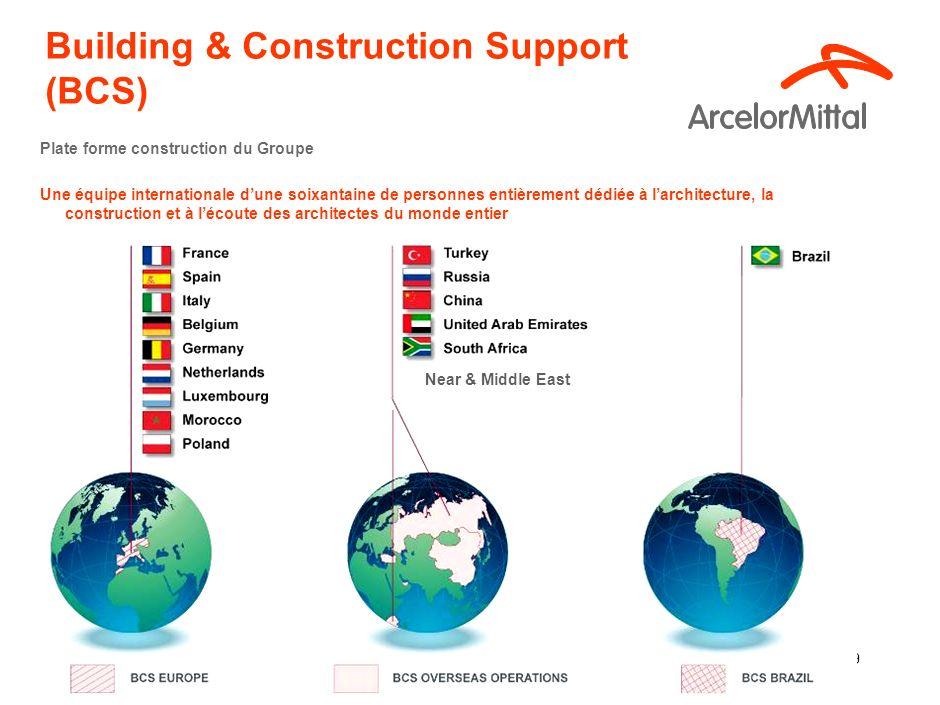 10 Building & Construction Support (BCS) Promotion vers les architectes Salons construction Conférences techniques, également séminaires techniques en partenariat Visites techniques de chantiers et bâtiments