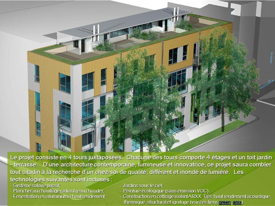 Le projet consiste en 4 tours juxtaposées.