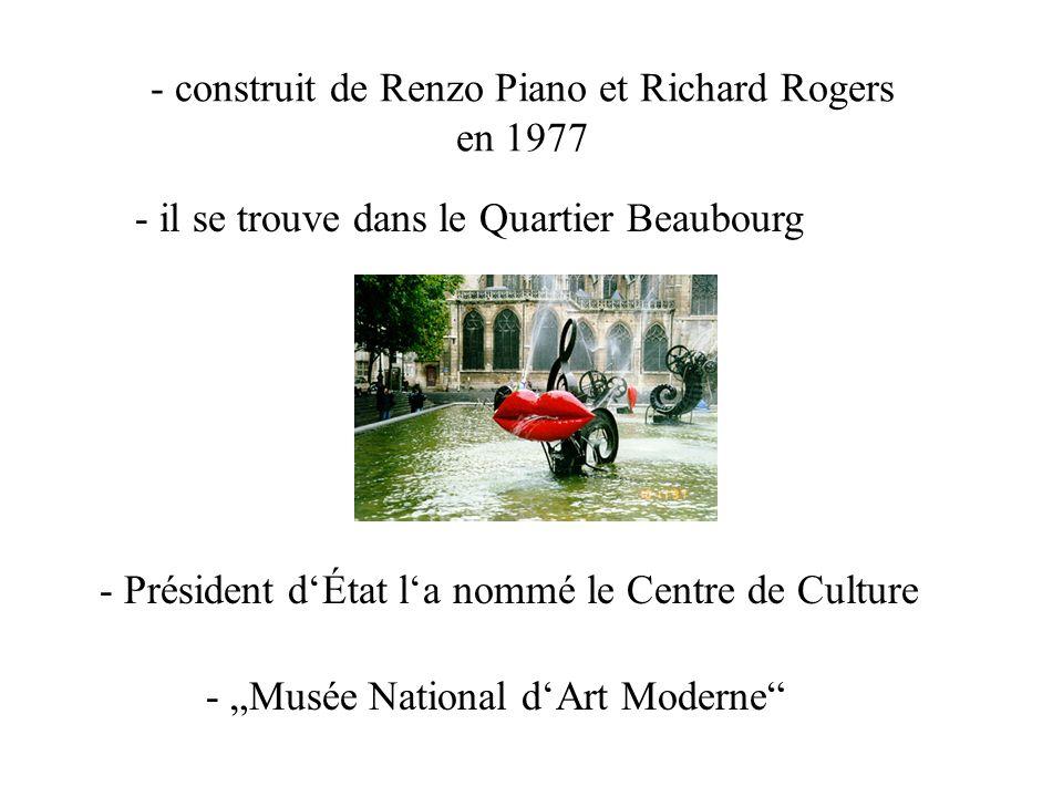 Le Centre Georges Pompidou 16.00 – 18.00