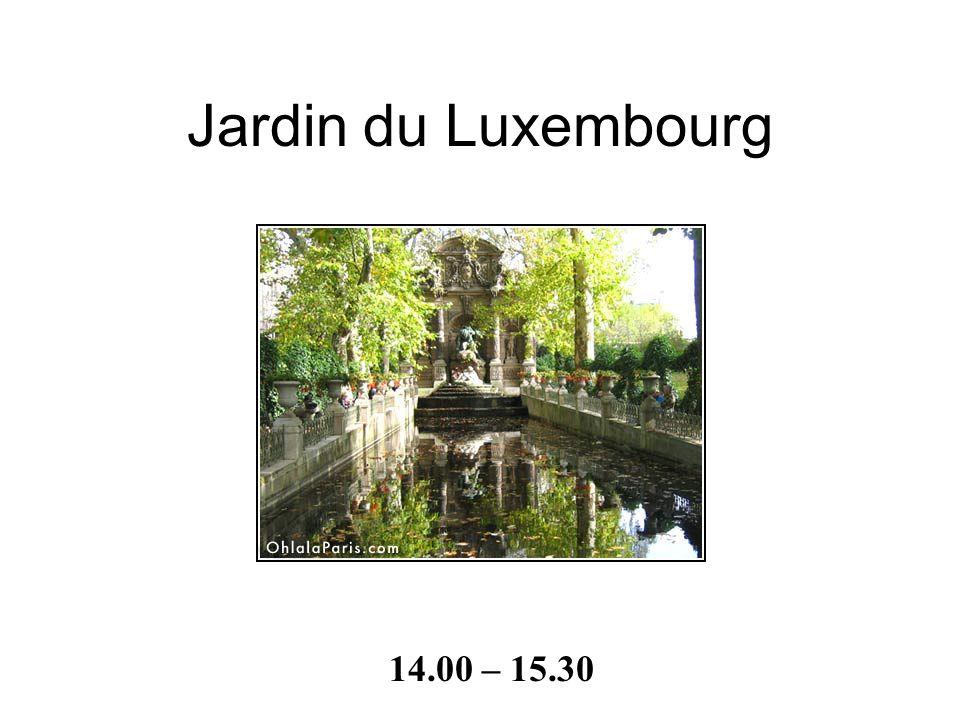 - le temps de construction: 16 années - autrefois: un prison - entouré du Jardin du Luxembourg - on a vu les images dans la bibliothèque - le siège du