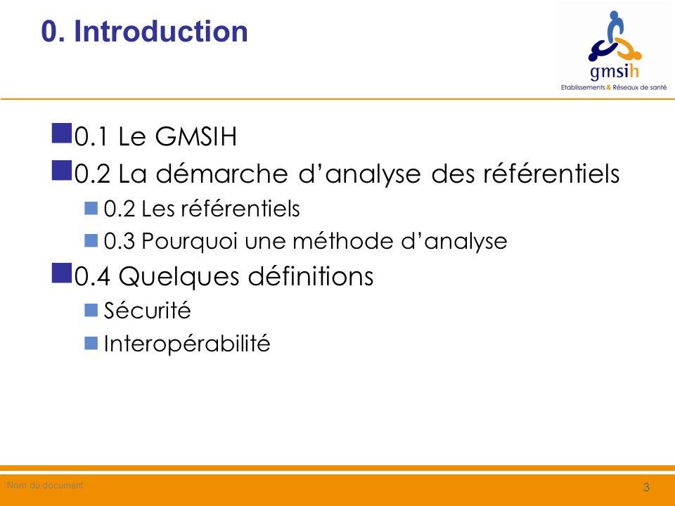 0.1 Introduction / Le GMSIH (1) La mission du Groupement pour la Modernisation du Système dInformation Hospitalier (GMSIH) est définie par larticle 2 de larrêté ministériel du 23 février 2000 a été étendue par la Loi de financement de la Sécurité Sociale (LFSS) de 2006 Dans le cadre général de la construction du SIS, le GMSIH est chargé de concourir à la mise en cohérence, à l interopérabilité, à l ouverture et à la sécurité des SI utilisés par les établissements de santé (ES), ainsi qu à l échange d informations dans les réseaux de soins entre la médecine de ville, les ES et le secteur médico-social, afin d améliorer la coordination des soins 4 202 / Guide de Mise en Œuvre METHODE