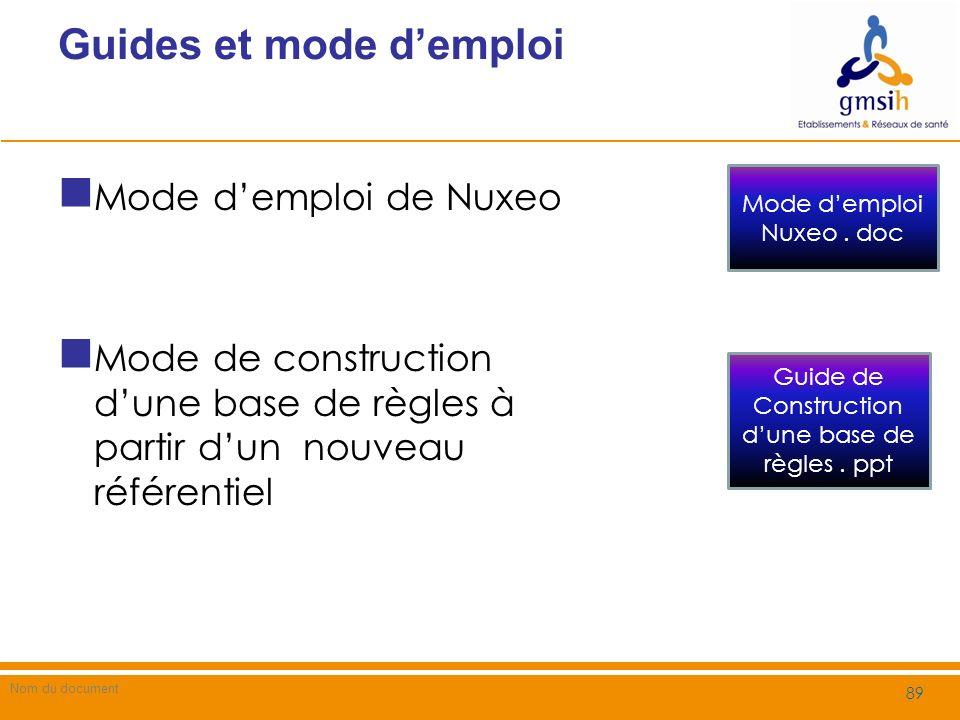 Guides et mode demploi Nom du document 90 Outil danalyse de risque pour un champ dapplication Outils de sélection des règles Analyse de risque.