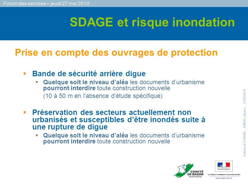 Bande de sécurité arrière digue §Quelque soit le niveau daléa les documents durbanisme pourront interdire toute construction nouvelle (10 à 50 m en la