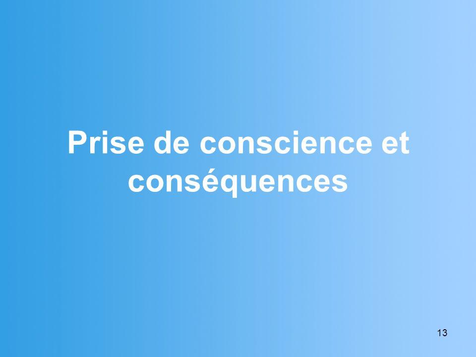 13 Prise de conscience et conséquences