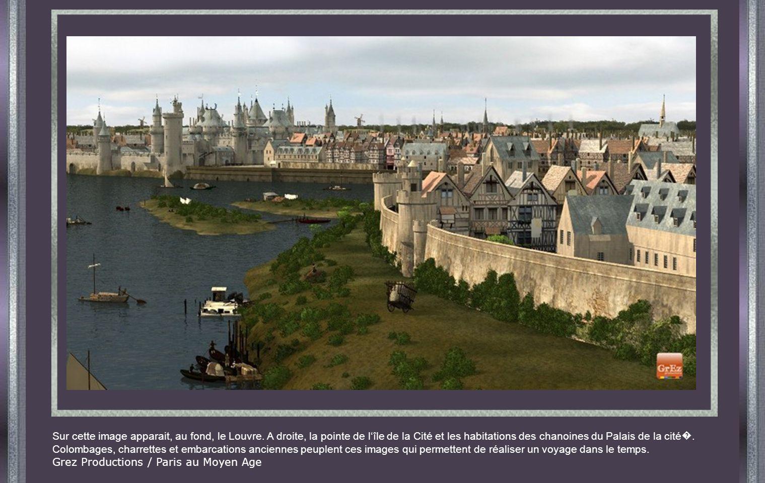 Sur cette image apparait, au fond, le Louvre.