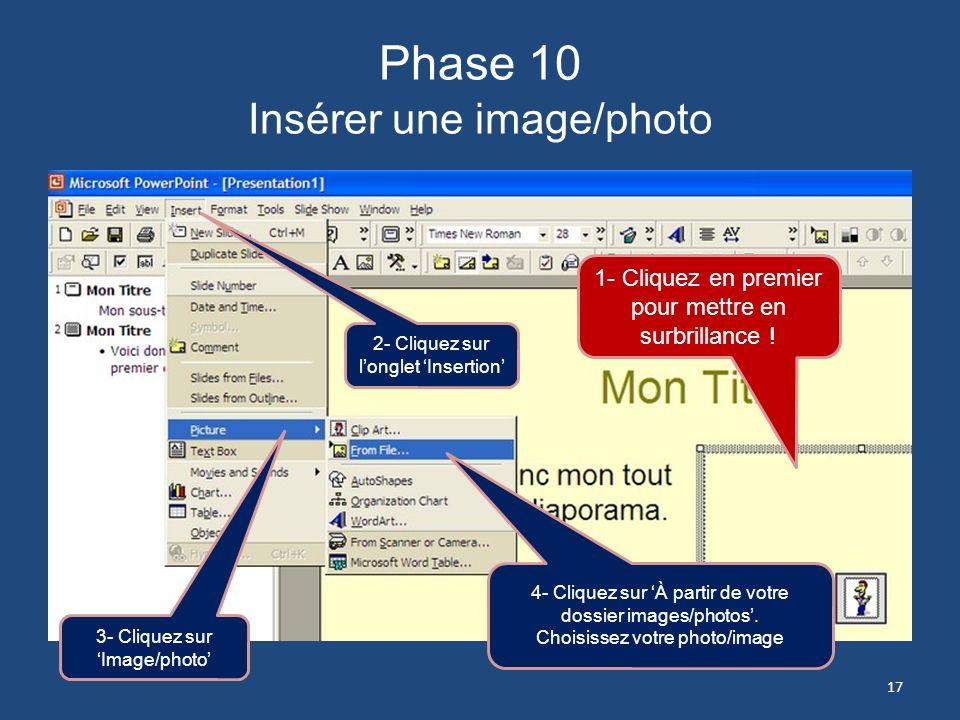 Phase 9 Créer une seconde planche Texte Considérez le choix dune police de Microsoft. 16