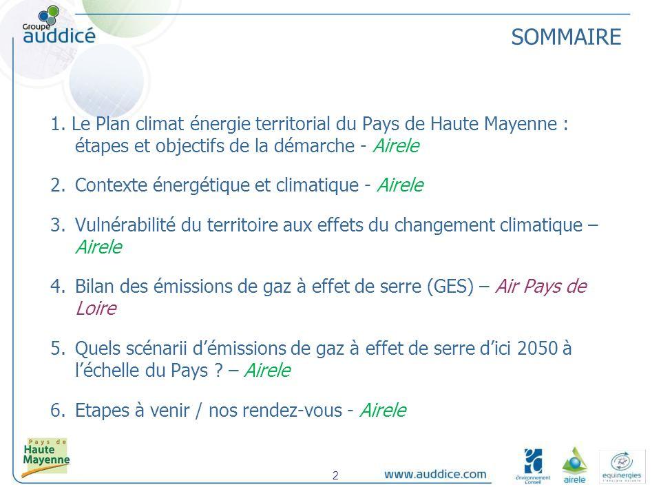 4. Quels scénarii démissions de gaz à effet de serre dici 2050 à léchelle du Pays ? 43