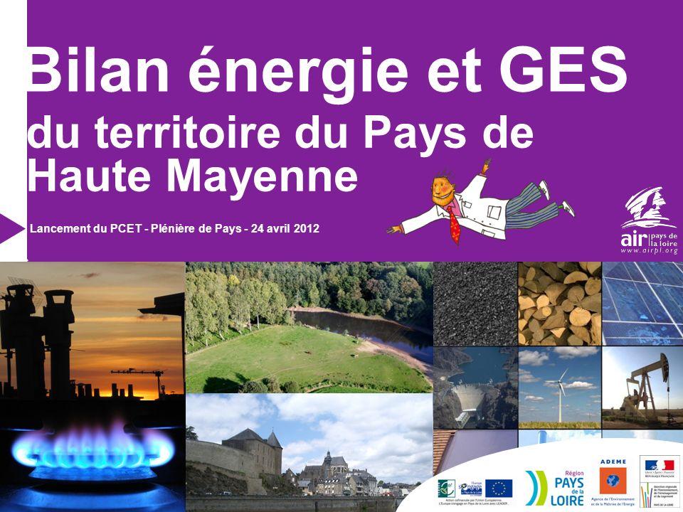 Bilan énergie et GES du territoire du Pays de Haute Mayenne Lancement du PCET - Plénière de Pays - 24 avril 2012 Référence du P.POINT
