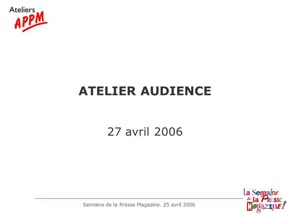 Semaine de la Presse Magazine. 25 avril 2006 LA NOUVELLE ETUDE AEPM Jean Louis MARX