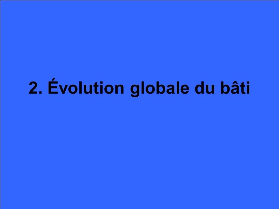 2. Évolution globale du bâti