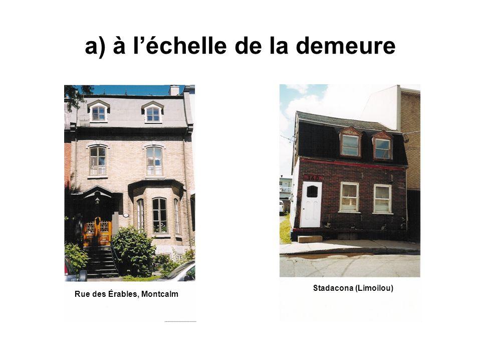a) à léchelle de la demeure Rue des Érables, Montcalm Stadacona (Limoilou)