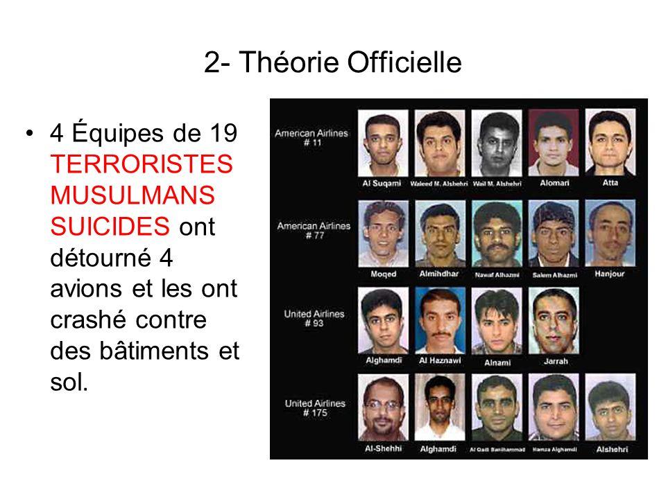 11- Trajets de vols officiels Source: http://www.9-11commission.gov/report/911Report.pdf