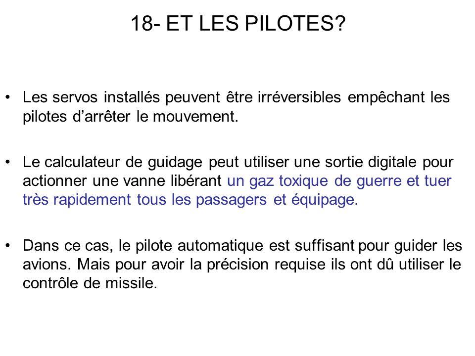 18- ET LES PILOTES.