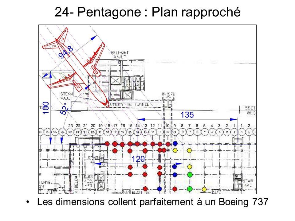 24- Pentagone : Plan rapproché Les dimensions collent parfaitement à un Boeing 737