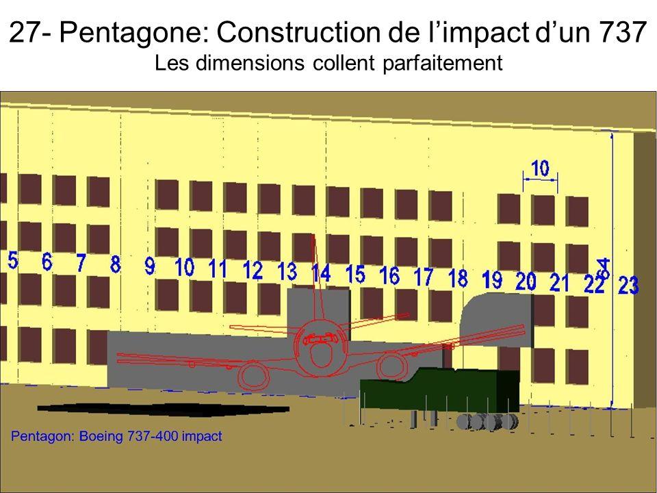 27- Pentagone: Construction de limpact dun 737 Les dimensions collent parfaitement