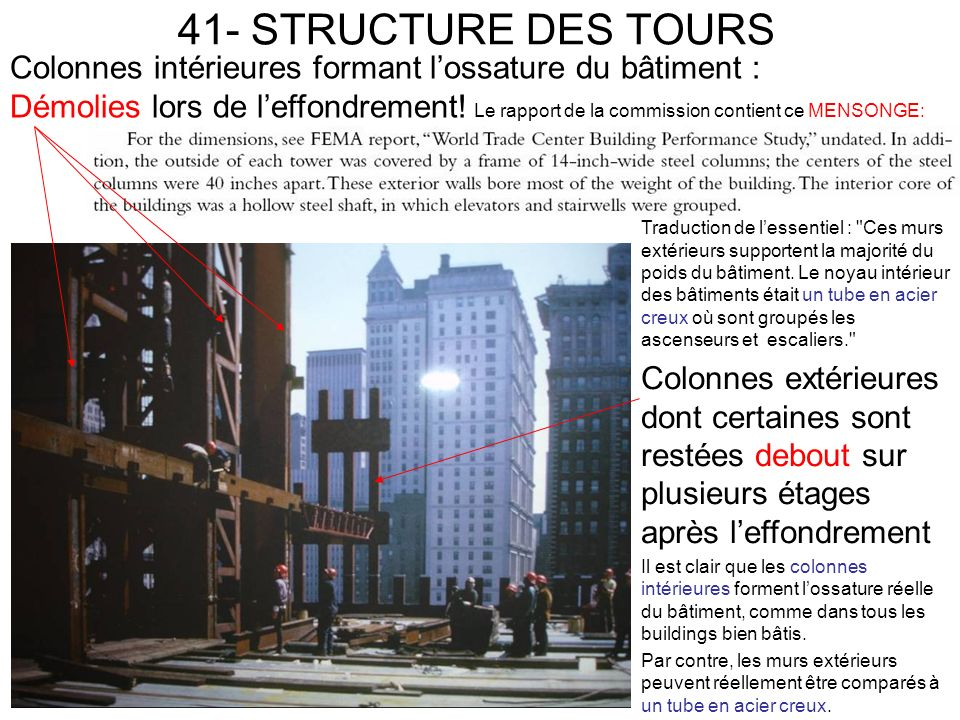 41- STRUCTURE DES TOURS Traduction de lessentiel :