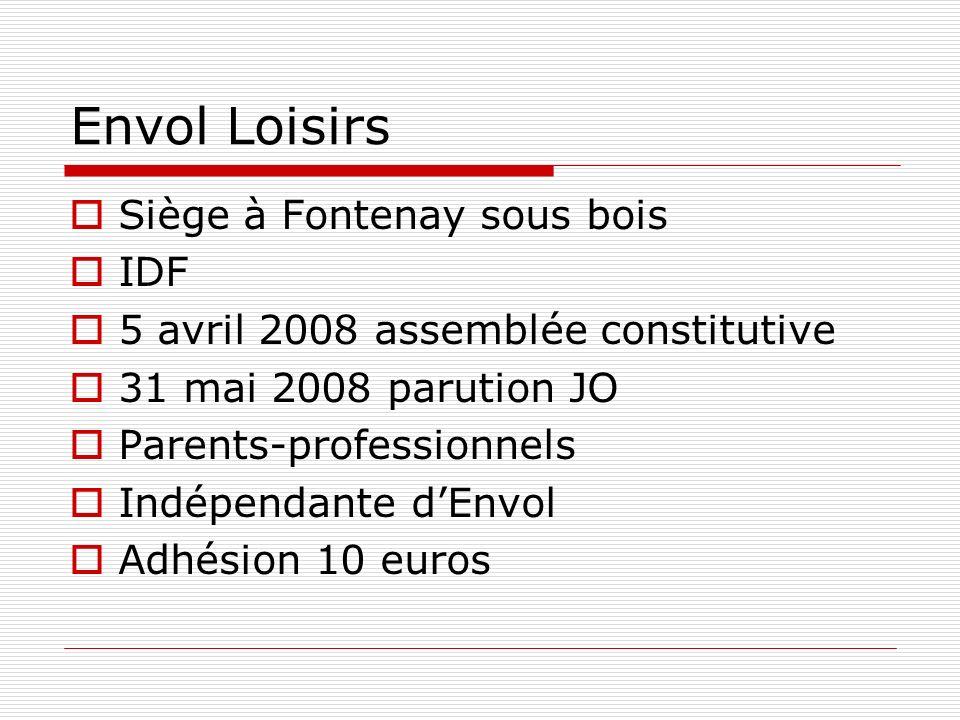 Envol Loisirs Site internet : http://www.envol-loisirs.org Adresse mail : envol_loisirs@yahoogroupes.fr Logo Espace de travail : http://fr.groups.yahoo.com/group/envol_l oisirs/