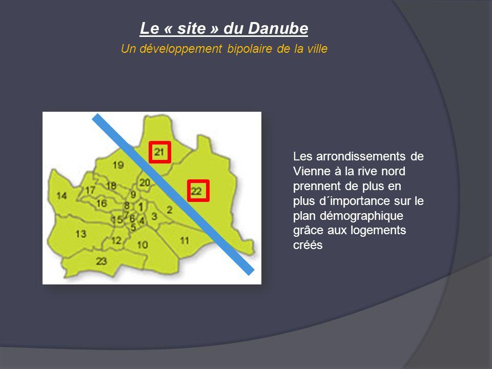 Le « site » du Danube Un développement bipolaire de la ville Les arrondissements de Vienne à la rive nord prennent de plus en plus d´importance sur le