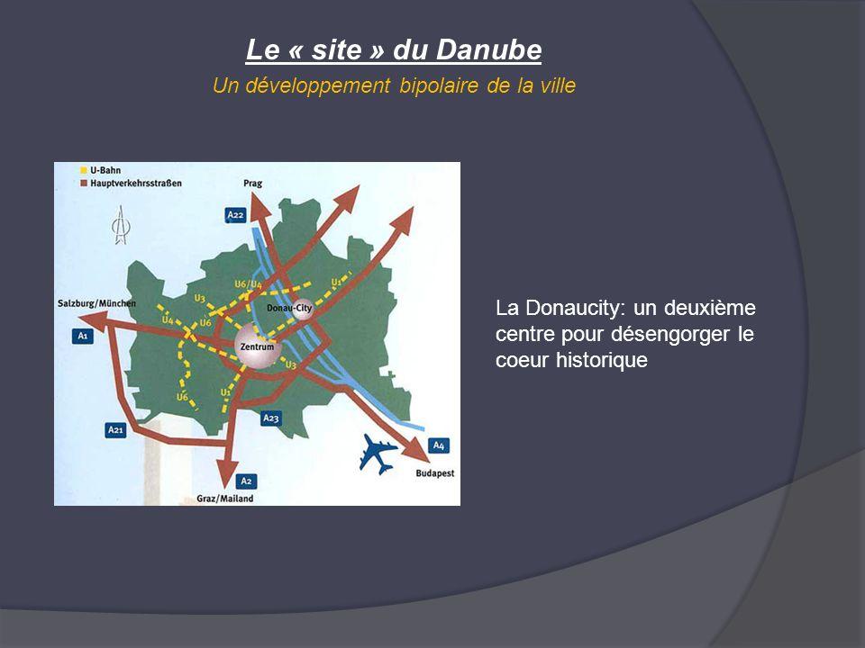 Le « site » du Danube Un développement bipolaire de la ville La Donaucity: un deuxième centre pour désengorger le coeur historique