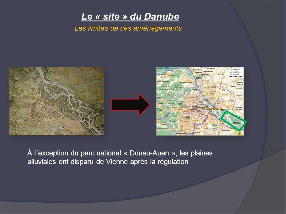 Le « site » du Danube Les limites de ces aménagements À l´exception du parc national « Donau-Auen », les plaines alluviales ont disparu de Vienne aprè