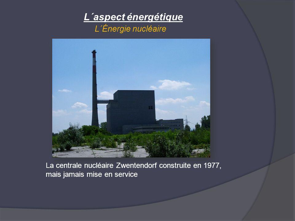 L´Énergie nucléaire L´aspect énergétique La centrale nucléaire Zwentendorf construite en 1977, mais jamais mise en service