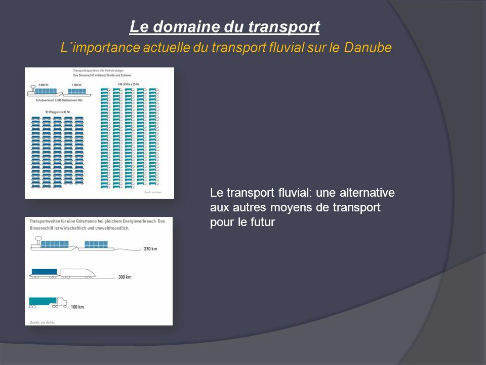 Le domaine du transport L´importance actuelle du transport fluvial sur le Danube Le transport fluvial: une alternative aux autres moyens de transport